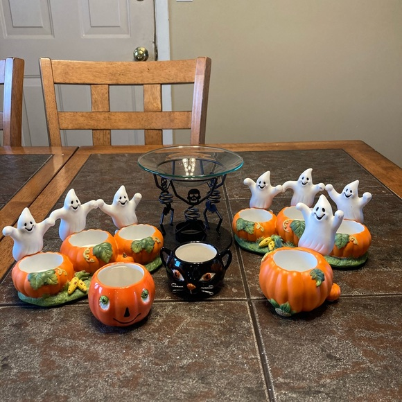 Lot of Halloween Candle Holders *PartyLite